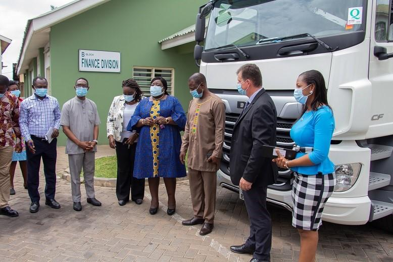 CFAO Equipment delivers DAF truck to Ghana Health Service